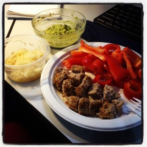 Lazy Lunch - Sausage, Bell Pepper, Guac & Kruat